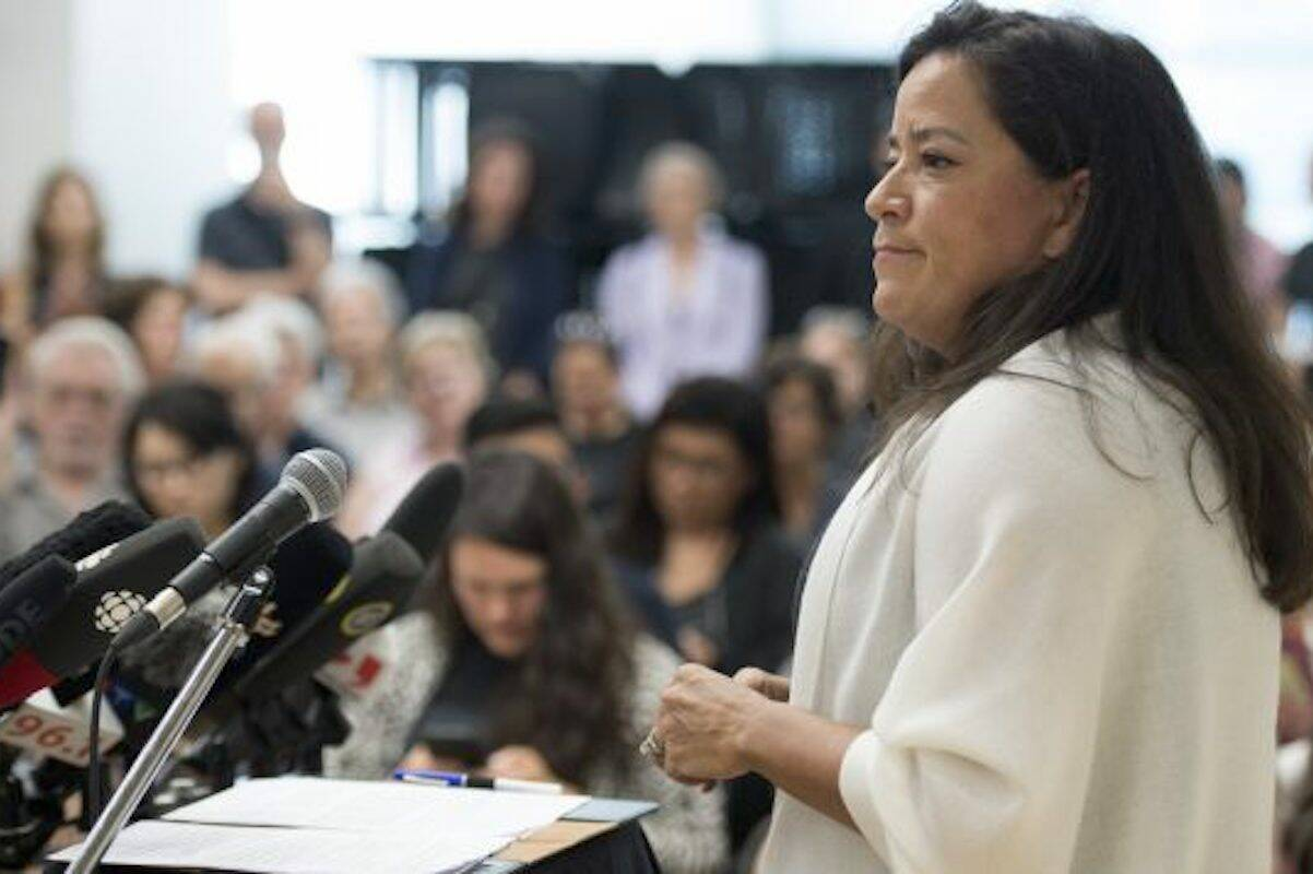 """Jody Wilson-Raybould published a political memoir called """"Indian"""" in the Cabinet: Speaking Truth to Power. (THE CANADIAN PRESS/Jonathan Hayward)"""