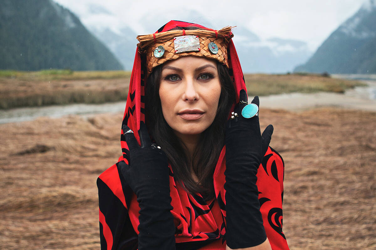 Indigenous fashion photographed at Klahoose Wilderness resort by Darren Hull for Boulevard Magazine