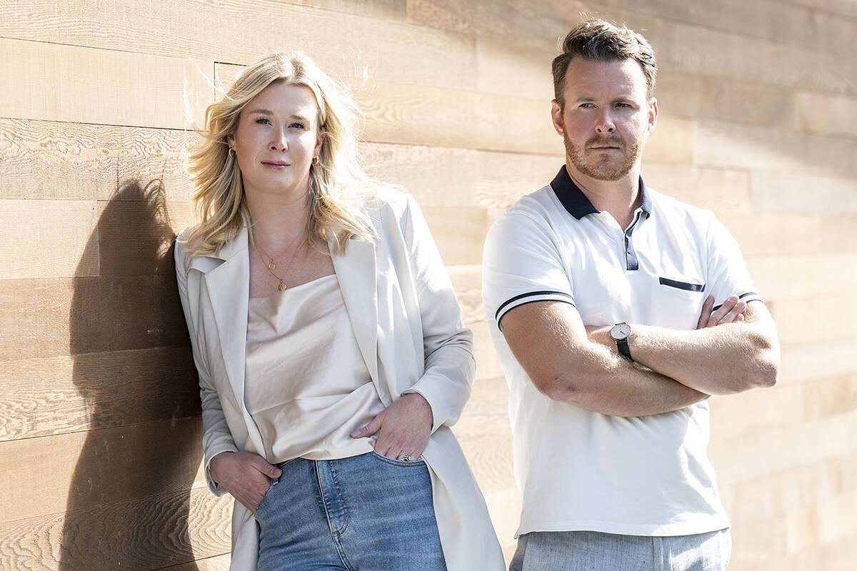 Katherine Gray and Patrick Hossack,Realtors, Hossack + Gray Real Estate,The Agency. Lia Crowe photo
